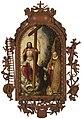 Gillis Claeissens - Christ the Saviour adored by Abbot Robert Holman.jpg