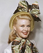 Photo of Ginger Rogers from 1945.