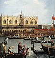 Giovanni Antonio Canal, il Canaletto - Return of the Bucentoro to the Molo on Ascension Day (detail) - WGA03894.jpg