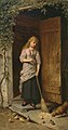 Girl with Broom in Doorway Champney 1882.jpg