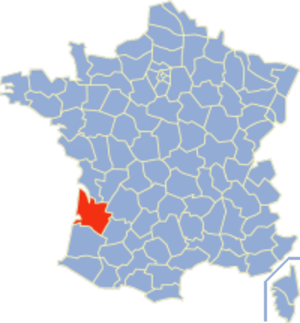 Communes of the Gironde department - Image: Gironde Position