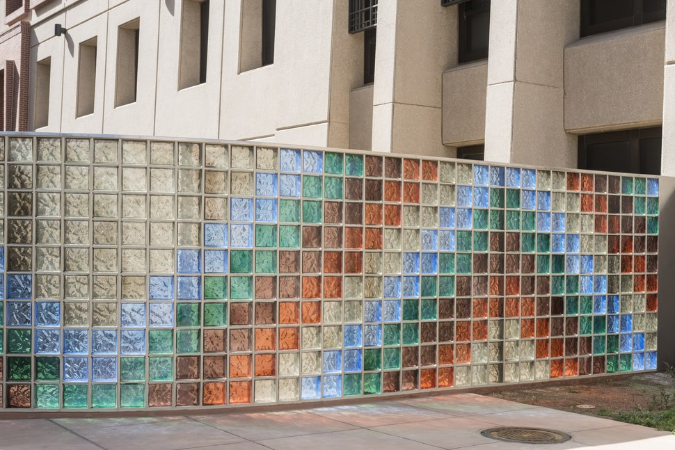 Glass block wall on the campus of the University of Texas-El Paso LCCN2014631180