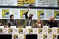 Glenn Howerton, Charlie Day, Kaitlin Olson & Danny DeVito (9365852210).jpg