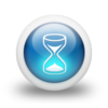 Glossy 3d blue hourglass.png
