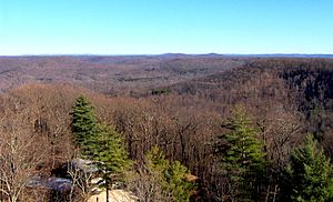 Standing Stone State Park - Standing Stone State Forest in December, looking northeast from the Goodpasture Mountain Firetower
