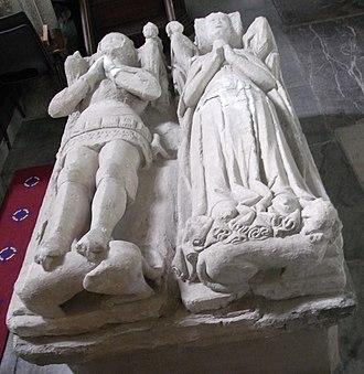 Tamerton Foliot - Gorges effigies, St Mary's Church