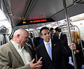Gov. Cuomo & Chairman Prendergast Ride E Train (15173111379).jpg