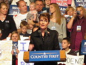 Sarah Palin campaigning in Des Moines