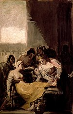 Goya y Lucientes, Francisco - Saint Isabel of Portugal Healing the Wounds of a Sick Woman - Google Art Project.jpg