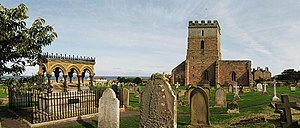 Grace Darling - Panorama of St Aidan's churchyard, Bamburgh