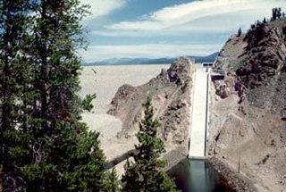 Granby Dam Dam in Grand County, near Granby, Colorado, USA