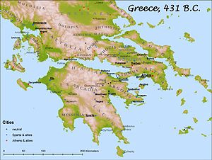 Classical Greece - Cities at the beginning of the Peloponnesian War