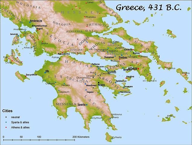 Karta Aten Grekland.Historia 1a1 Athen Och Sparta Wikibooks