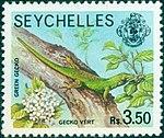 Green gecko 1979 stamp of Seychelles.jpg