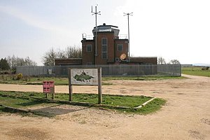 RAF Greenham Common - The disused Control Tower building.
