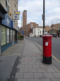 Greenwich, postbox No. SE10 3, Greenwich High Road - geograph.org.uk - 1498437.jpg