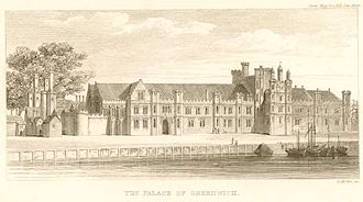 Mary Stuart (1605–1607) - Greenwich Palace, Mary's birthplace.