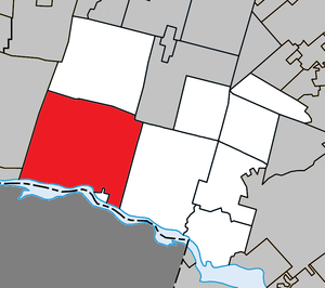 Grenville-sur-la-Rouge, Quebec - Image: Grenville sur la Rouge Quebec location diagram