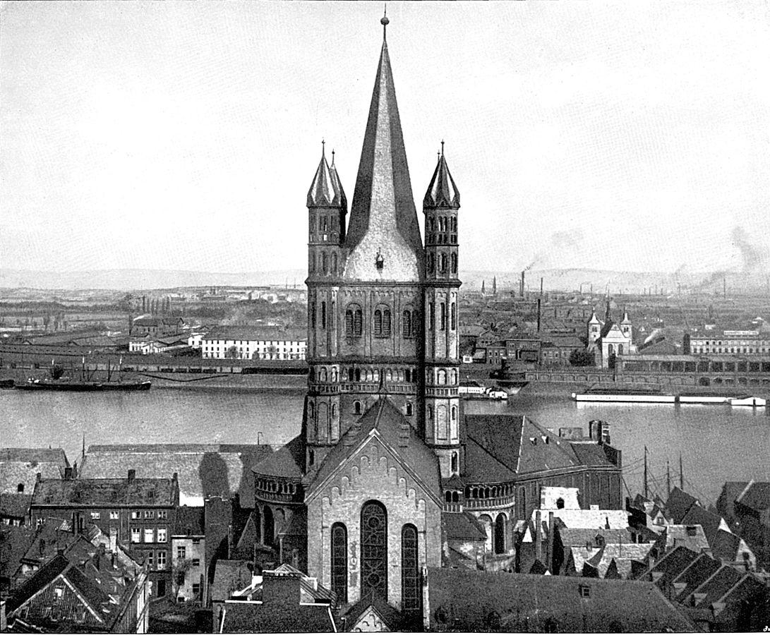 Gross St Martin - Blick von Westen vor 1899.jpg