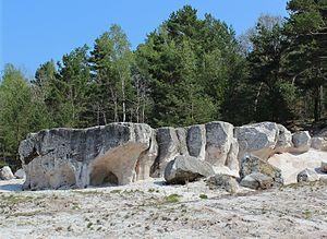 Geotope - Petrified Miocene quartz sand in the old Grube Gotthold mine on the Liebenwerda Heath, Lower Lusatia