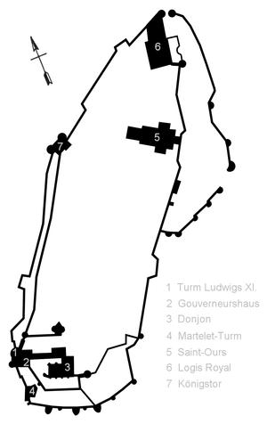 Château de Loches - Floor plan of the Château