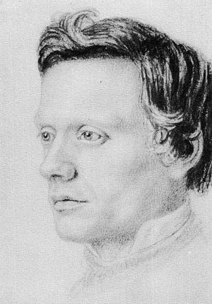 Guðbrandur Vigfússon - A portrait of Guðbrandur Vigfússon by Sigurður málari.
