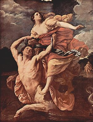 Nessus (mythology) - Guido Reni, Abduction of Deianira, 1620-21, Louvre Museum.