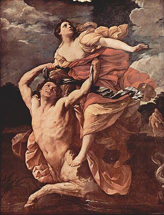 Nessus (mythology) - Guido Reni, Abduction of Deianira, 1620-21, Louvre Museum.