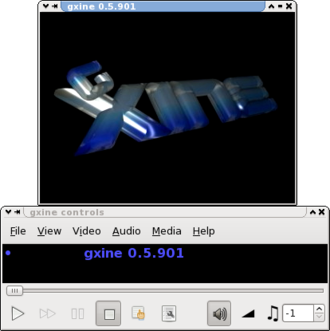 Xine - Image: Gxine screenshot