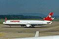 HB-IWB 1 MD-11 Swissair ZRH 31AUG98 (6893603083).jpg