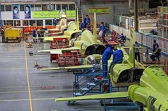 HESA Kowsar - Production line of HESA Kowsar
