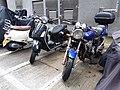 HK 上環 Sheung Wan 太平山街 Tai Ping Shan Street motorbike parking August 2018 SSG Honda.jpg
