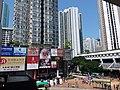 HK 葵芳 Kwai Fong MTR Station facade n Estate n 葵涌廣場 Kwai Chung Plaza facade 葵仁路 Kwai Yan Road May 2019 SSG 01.jpg
