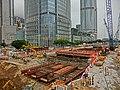 HK Central footbridge view Finance Street IFC Exchange Square construction site 19-Mar-2013.JPG