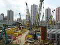 HK YL 元朗 Yuen Long 朗屏站 Long Ping MTR Station view construction site April 2016 (5).JPG