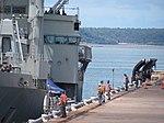 HMAS Tobruk Departs Fort Hill Wharf January 2012 (6741797961).jpg
