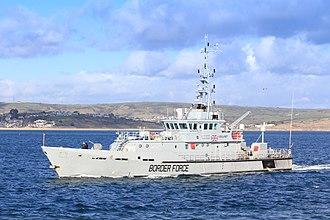 HMC Vigilant - Image: HMRC Vigilant entering Weymouth Nov 5