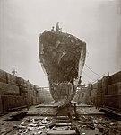 HMS Broke Jutland damage, bow.jpg