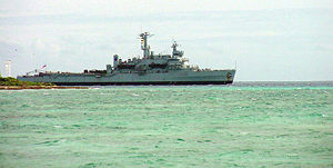 HMS Fearless (L10) - HMS Fearless in the Indian Ocean, 16 November 2001.