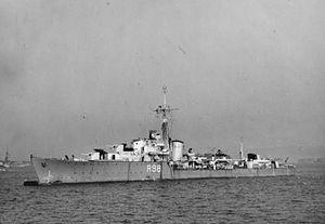 HMS Wager (R98) - HMS Wager 1944 IWM FL 8784