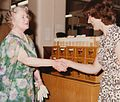 HM Queen Mother at the formal opening of the new library in the Lionel Robbins Building, 10th July 1979 (3982886891).jpg