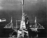 HUP Retriever approaching USS Long Beach (CGN-9), circa in 1962.jpg