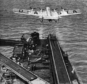 Hamburger Flugzeugbau - An Ha 139 being catapult-launched from a ship at sea