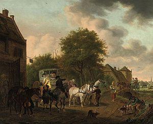 Tethart Philipp Christian Haag - Image: Haag christian 1737 1812 germa an elegant company in a carria