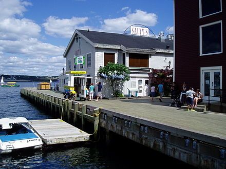 The Halifax Boardwalk is a public footpath along Halifax Harbour. Halifax boardwalk.JPG
