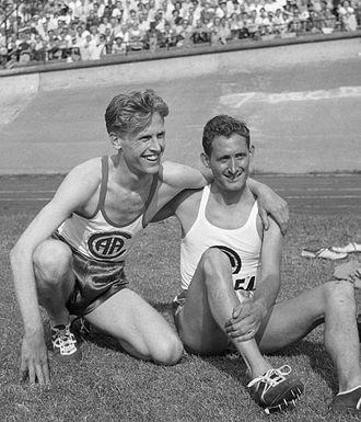 Willem Slijkhuis - Hans Harting and Wim Slijkhuis (right) in 1951