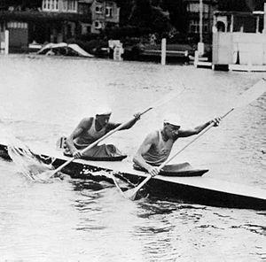 Gunnar Åkerlund - Gunnar Åkerlund and Hans Wetterström at the 1948 Olympics