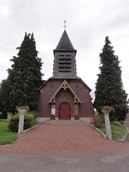 Happencourt (Aisne) église Saint Martin