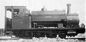 CGR 2-6-0ST 1902 - Table Bay Harbour no. 25, CGR no. 1008, SAR no. 01008, c. 1930
