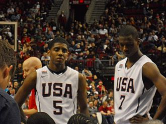 Harrison Barnes - Barnes (right) with Kyrie Irving while playing for the United States